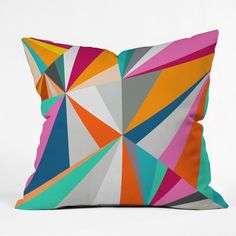 Three Of The Possessed Collins Ave Throw Pillow   DENY Designs Home Accessories