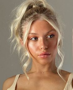 Pretty Hairstyles, Easy Hairstyles, Casual Hairstyles, Hairstyles Tumblr, Short Ponytail Hairstyles, Instagram Hairstyles, Summer Hairstyles, Hair Inspo, Hair Inspiration