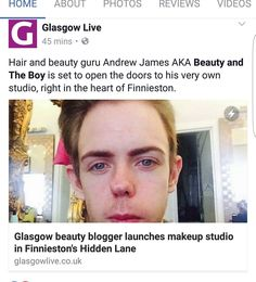 Hey guys quick post to say check out this article by @glasgowlive that was written about my makeup studio opening in 2 weeks I hope to see you guys! #bbloggers #glasgowlive #obsidianmakeup