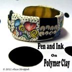 Pen and Ink polymerclayetc.com video tutorials