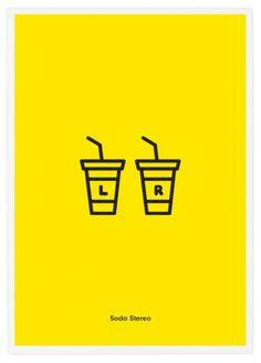 icones groupes de rock soda stereo des icones groupes de rock rock rebus photo image icone groupe design