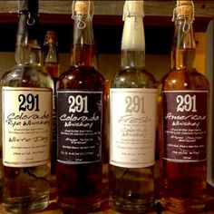 Distillery 291 makes Colorado Whiskey, Colorado Bourbon Whiskey, Colorado Rye Whiskey, Fresh Colorado Whiskey, and Colorado White Dog Whiskey!