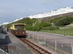 Brighton - Volk's Electric Railway is the oldest operating electric railway in the world. It is a narrow gauge railway that runs along the seafront between the Aquarium and Black Rock in Brighton. It was built by Magnus Volk, the first section being completed in August 1883. ***text & photo by Robert Bovington *** blog: http://bovingtonbitsandblogs.blogspot.com.es