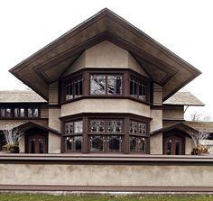 B. Harley Bradley House. Frank Lloyd Wright. Prairie Style. 1901. Kankakee, Illinois.