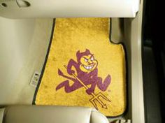 NCAA - Car Mats 2 Piece Front - Arizona State University.  Buy it @ ReadyGolf.com