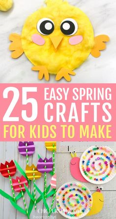 25 Best easy spring crafts for kids to make: simple spring crafts for toddlers & spring crafts for preschool kids. From quick & easy easter crafts for kids to spring crafts for kids art projects in the classroom, educational spring… Continue Reading → Spring Toddler Crafts, Easter Crafts For Toddlers, Easy Toddler Crafts, Bunny Crafts, Crafts For Kids To Make, Easter Crafts For Kids, Preschool Crafts, Art For Kids, Easter Activities
