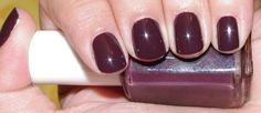 "essie ""carry on"" from the 2011 carry on collection... a dark burgundy-purple that is much darker in the shade"