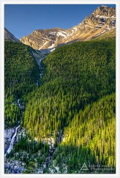 ☀This Bridal Veil Falls is along the Icefields Parkway in Banff National Park. Alberta, Canada
