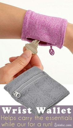 Diy idea how to make tutorial Wrist wallet #diypurse