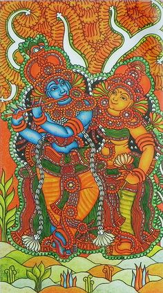 Radha Krishna - The Divine Lovers (Reprint on Paper - Unframed))