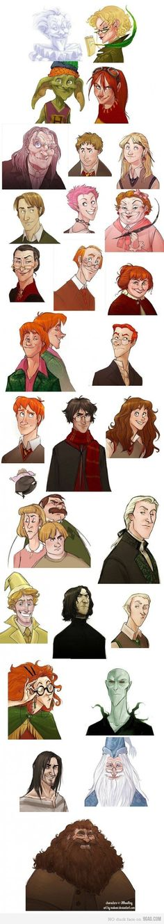 Harry Potter in Disney animation style