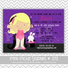 Magic Girls 373 ... Personalized Birthday by PinkPickleParties, $10.00