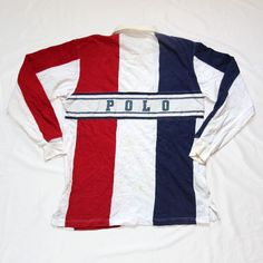 Vintage 90s Polo Ralph Lauren 92  Big Logo Spell Out Rugby Jersey Shirt For sale!    http://www.ebay.com/itm/Vtg-90s-Polo-Ralph-Lauren1-Spell-Out-92-Stadium-Long-Sleeve-Rugby-Jersey-Shirt-/152637076789?    #Vintage #90s #Polo #RalphLauren #PoloRL #PoloSport #BigLogo #SpellOut #Rugby #Jersey #Shirt #PWing #Stadium #Bear #Sportsman #PoloCPRL #LoLife #LoHead #HipHop #Rap #Striped #MultiColor #ColorBlock
