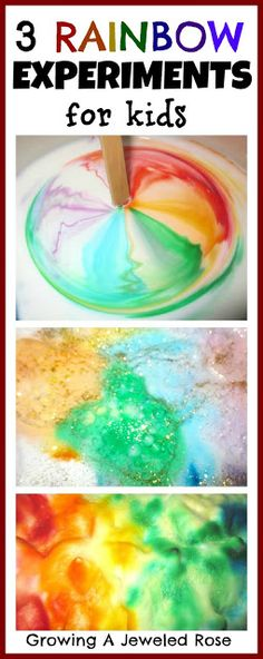 Rainbow experiments! Super fun! Looks like fun. Maybe in the yard in the kiddie pool this summer