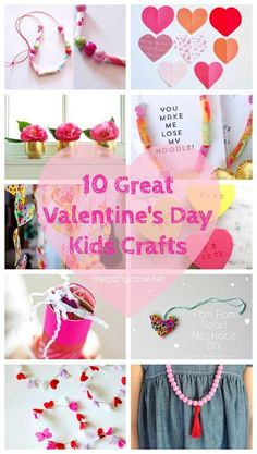 Visit The Crafty Crow for lots of great Valentine's Day crafts for kids!