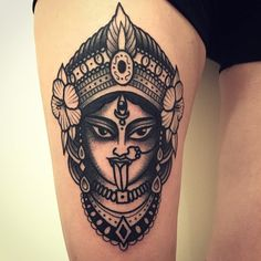 Hindu Tattoos, God Tattoos, Future Tattoos, Body Art Tattoos, Krishna Tattoo, Kali Tattoo, Mahadev Tattoo, Kali Mata, Tattoo Life
