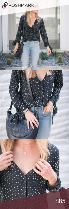 Madewell Silk Star Scatter Tie-Sleeve Top Madewell Silk Star Scatter Tie-Sleeve Top. Worn once. Perfect new condition. Madewell Tops Blouses