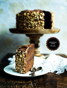 Chocolate Hazelnut Kahlua Cake