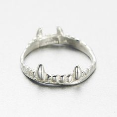 Vampire Crown Ring pictured in Sterling Silver. Also available in Gold Brass.