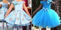 Pattern elegant dress for girls (Sewing and cutting) - Journal Inspiration Needlewoman Cute Dresses, Girls Dresses, Prom Dresses, Formal Dresses, Baby Clothes Patterns, Clothing Patterns, Party Fashion, Girl Fashion, Dress Anak