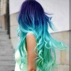 Turquose Blue Purple fading