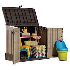 Plastic Outdoor Storage Cabinets has one of the best kind of other is Outdoor Storage Bins Ideas