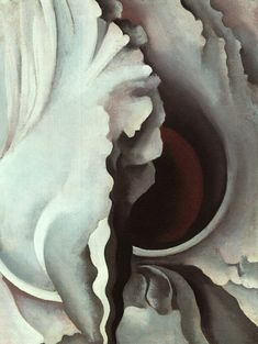 When I think of O'Keefe's art, I think it is the most 'suggestive' that you can portray in that she subtly suggests a lot of organic, sensual things without being specific with the image.