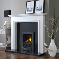 """Woodcraft Broadway 52"""" White Fireplace Suite - Electric Fireplaces - Fireplace Packages - Fireplaces Are Us"""