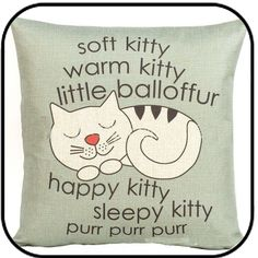 Printed Cat Throw Pillow Cushions Cover