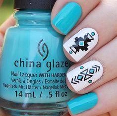 tribal nail art design
