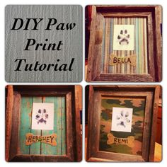 Add décor to your walls with a personalised paw print from you pet. Easy DIY tutorial here:
