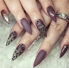 Best Stiletto Nails Designs, Ideas and Tips For You - - Glamorous Stiletto Nail Designs Youll Adore ★ See more: naildesignsjourna. Beautiful Nail Art, Gorgeous Nails, Fancy Nails, Trendy Nails, Hair And Nails, My Nails, Uñas Fashion, Gel Nagel Design, Cute Nail Designs