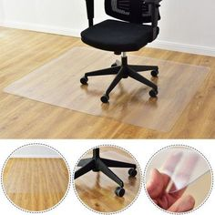 Goplus 47'' x 59'' PVC Chair Floor Mat Home Office Protector For Hard Wood Floors