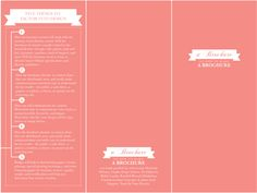 a brochure on how to make a brochure by Stephanie Bullock, via Behance