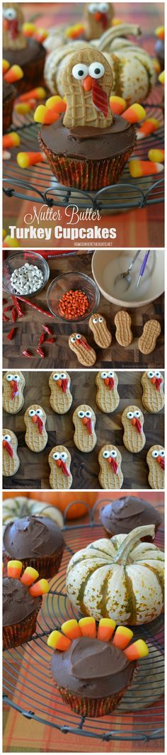 Nutter Butter Turkey Cupcakes, as fun to make as they are to eat…