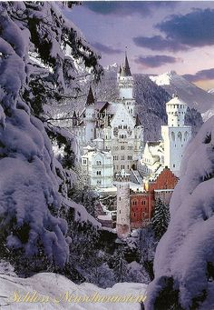 Germany - Neuschwanstein Castle Winter. How it looked when I was there