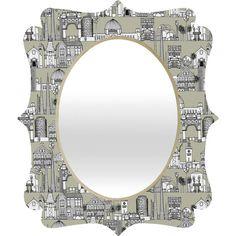 Sharon Turner Los Angeles Linen Quatrefoil Mirror