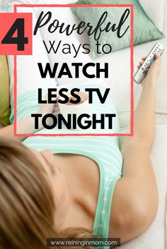 What could you do with a few extra hours in your day? After trying to watch less TV and limit Facebook scrolling for years, I finally found tricks that work. Try them and get your time back starting tonight! via @Reininginmom