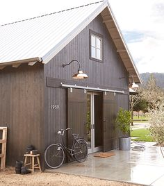 Copper Carson Barn | Rejuvenation. interesting look