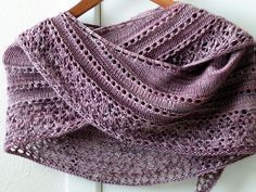 Sugared Violets Shawl. Maybe I should learn how to knit, just to make this, it's so pretty!