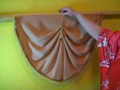 Learn how to make Waterfall Valance part 2 Swag Curtains, Curtains And Draperies, Double Rod Curtains, Hanging Curtains, Valances, Bedroom Curtains, Curtain Pelmet, Curtain Rods, Window Swags