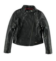 Retour imitatieleren jack model Celeste. Dit jasje is voorzien van een a symmetrische ritssluiting - Zwart - NummerZestien.eu