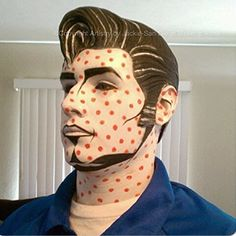 Pop Art Make Up Super creative makeup looks that him and i love. See more ideas about Makeup, Creati Pop Art Makeup, Fx Makeup, Party Makeup, Halloween Cosplay, Halloween Fun, Halloween Costumes, Comic Book Makeup, Comic Books, Art Costumes