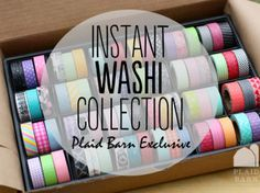 Opportunity to win 72 rolls of Washi Tape from the Plaid Barn