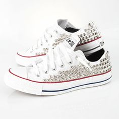 Custom Studded Converse !!! Im so doing this love it