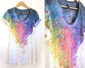 not usually a tye-dye fan, but this is super cute... splash dyed-hand painted t