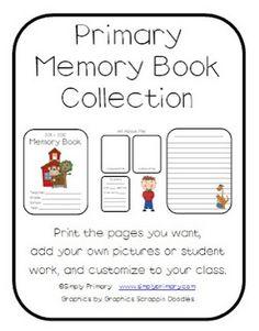 Classroom Freebies: Classroom Memory Book Freebie!