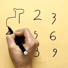 Turn numbers into cute drawings! Turn numbers into cute drawings! Easy drawing tips with numbers! Diy Arts And Crafts, Fun Crafts, Paper Crafts, Sheep Crafts, Drawing Techniques, Drawing Tips, Drawing Ideas, Drawing Drawing, Drawing With Numbers