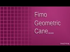 FIMO Techniken: Geometrik für klare Raster - Anleitung [HD/deutsch]