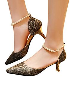 Comfortable Dress Shoes, Wedding Heels, Party Shoes, Toe Shoes, Black Shoes, Ankle Strap, Kitten Heels, Pumps, Pearls